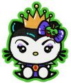Hello Kitty angry queen embroidery design