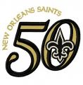 New Orleans Saints 50th anniversary 2 embroidery design
