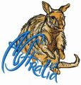Kind kangaroo embroidery design