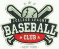 College league baseball club embroidery design