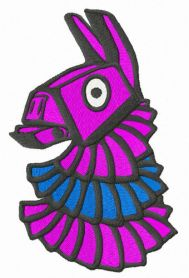 Colorful pinata machine embroidery design