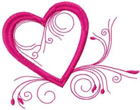 Valentines day heart free embroidery design 2