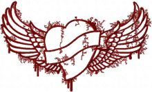 Tribal heart and wings