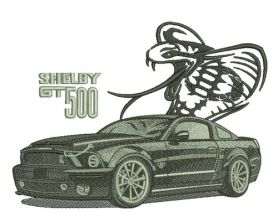 Shelby GT500 car machine embroidery design