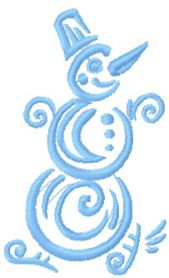 Christmas snowman free embroidery design 2
