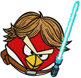 Angry Birds Star Wars Luke machine embroidery design