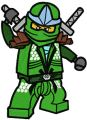 LEGO Ninjago Green Ninja Lloyd ZX  embroidery design