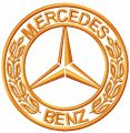 Mercedes-Benz logo 2 embroidery design