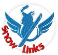Snow links embroidery design