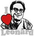 I love Leonard embroidery design