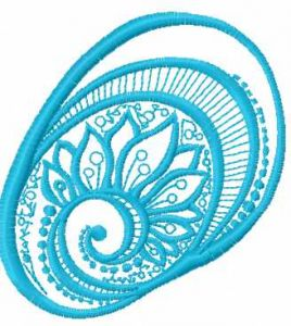 Blue round decoration 3