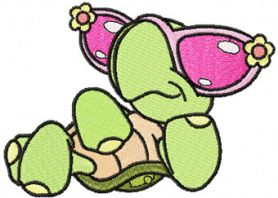 Cool Turtle machine embroidery design