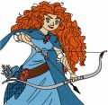 Princess Merida shot an arrow embroidery design