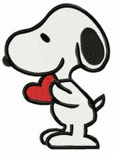 Snoopy with Valentina card