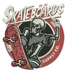 Skateboards Supply Co. 2 machine embroidery design