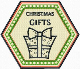 Christmas Gifts machine embroidery design