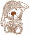 Country mouse embroidery design