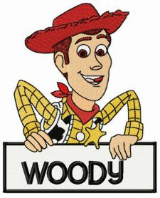 Sheriff Woody Pride machine embroidery design
