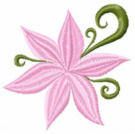 Small Flower free machine embroidery design