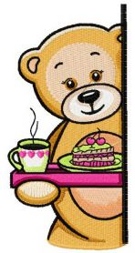 Teddy's tea time 3 machine embroidery design