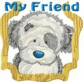 Fluffy my friend embroidery design