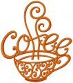 Vintage coffee free embroidery design