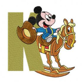 Mickey Mouse Letter K machine embroidery design