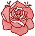 Red rose 12 embroidery design