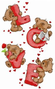 Teddy bears and love