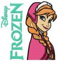 Anna Frozen 2 embroidery design