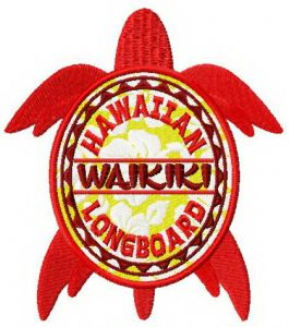Waikiki turtle badge
