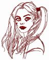 Harley Quinn 2 embroidery design