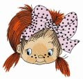 Cute little fisher girl 2 embroidery design