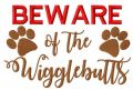 Beware of the wigglebutts free embroidery design