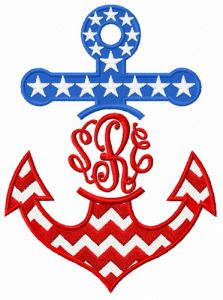 Stars and stripes anchor