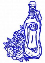 Bottle and flowers 2