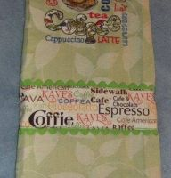 Different coffee design on towel1