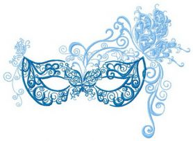Mask 4 machine embroidery design
