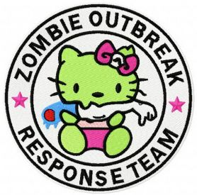 Hello Kitty zombie outbreak response team 2 machine embroidery design