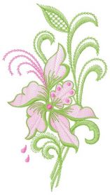 Air flowers 2 machine embroidery design