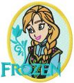 Anna badge embroidery design