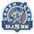 Jeter Derek NY patch logo embroidery design