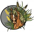 Steppe horse 2 embroidery design