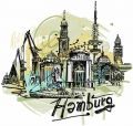 Hamburg embroidery design