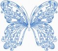 Vintage butterfly free machine embroidery design