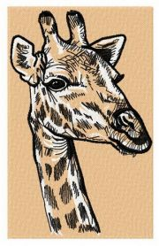 Giraffe 2 machine embroidery design