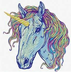 Rainbow unicorn 7 machine embroidery design