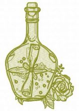 Bottle and flowers 3