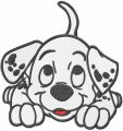Dalmatian puppy embroidery design