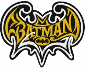 Batman modern logo machine embroidery design